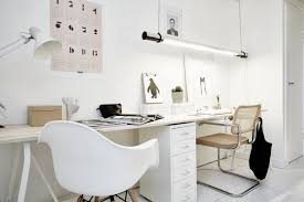 modern home office featuring glossy white. Modern Home Office Featuring Glossy White. Beautiful Picturesque White R