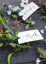 How to create quick, easy and free place cards for your dinner party   A