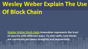 Wesley Weber Giving Conceptual Thoughts On Blockchain