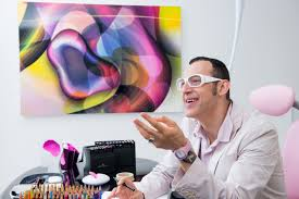 Karim Rashid in his New York office. The designer who dabbles in philosophy  wants people