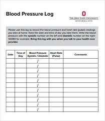 bp log blood pressure logs template oyle kalakaari co
