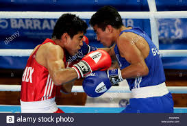 Barranquilla, Colombia. 25th July, 2018. Mexican boxer Miguel ...