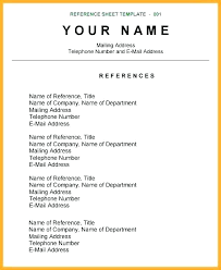 Example Of Reference Reference Page Example Professional Sheet Template Sample Home Of