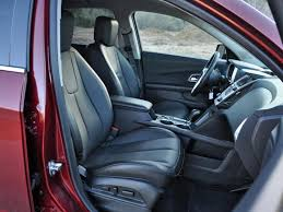 with large supportive front seats the equinox feels more like a midsize suv than a compact