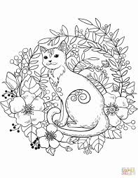 Kitty cat coloring pages color printable kitten arilitv com and. Cute Kitty Cat Coloring Page Book Face Littlest Pet Shop Black Free Printable Golfrealestateonline
