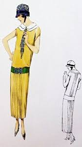 Dress Vintage Sewing Pattern From The 1920s Excellent Detailing In