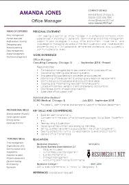 Office Manager Resume 1 Office Manager Resume Samples For Example