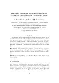 pdf operational method for solving integral