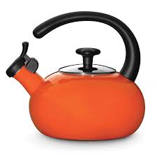 amazoncom rachael ray teakettles quart whistling orange