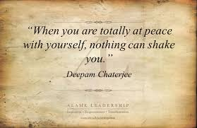 Quotes About Being At Peace With Yourself Best of AL Inspiring Quote On Being Peace With Oneself Alame Leadership