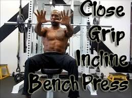Close Grip Incline Bench PressIncline Bench Press Grip