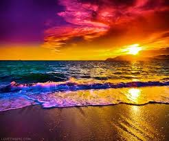 colorful sunset over the ocean