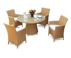eclipse round glass top 1 2m table 4 riviera armchairs rattan set