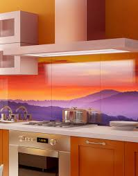 Splashback For Kitchens Tuscan Village At Sunset Printed Acrylic Kitchen Splashback