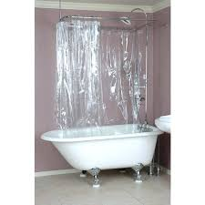 clawfoot shower curtain tub liner solution ring curved rod curtains ideas