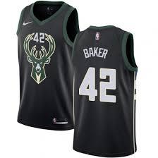 Make Own Merchandise Silk Fabric Merchandise Youth Adidas Milwaukee Bucks 42 Vin Baker