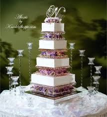 glass block wedding cake stand designs
