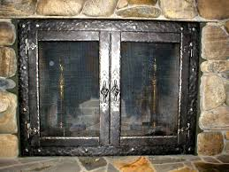 12 inspiration gallery from awesome fireplace screens with doors