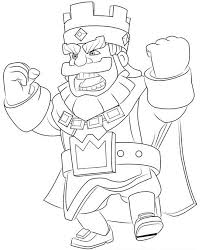 Kleurplaat Clash Royale Koning Boos 3