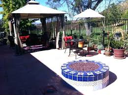 stamped concrete patio with square fire pit. Lavishly Rectangle Fire Pit Outdoor Nice Fireplaces Tile Plow La Hacienda  Slate Pits Square Decorative Concrete Stamped Patio With