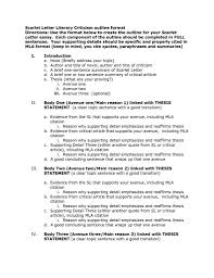 97 Mla Format Outline Generator Mla Format Template With Cover