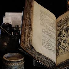 book old flowers books antique witch jar ancient spells witchcraft spell wiccan pagan ritual ism rituals