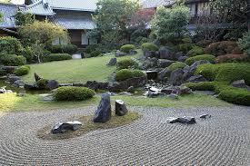japanese rock garden zen outdoor design immortal islands gravel sand