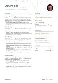 Digital Strategist Resume Digital Strategist Resume Example And Guide For 2019