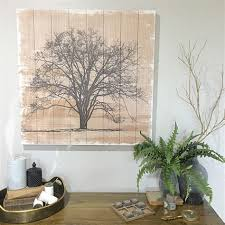 80cm tree wooden wall art ready to hang wall decor wood