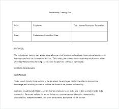 Software Training Plan Template Page Word Excel Forms Strategy