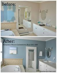 Small Blue Bathrooms Master Bathroom Paint Color Reveal Paint Colors Love This And