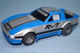 mazda rx7 1985 black. 1985 mazda rx7 turbo blue silver black tyco magnum 440x2 slot car rx7