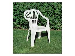 plastic chair with armrests for gardens