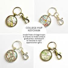 college map keychain personalized college gift college grad gifts graduation gift for best friend graduation keychain going away gift