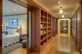 lighting bookshelves. hallway shelving hall craftsman with built in bookshelves pendant lighting