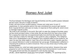 romeo and juliet the feud between the montague and capulet  document image preview