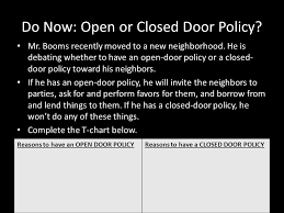 do now open or closed door policy