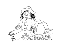 Small Picture October Calendar Month Coloring Page