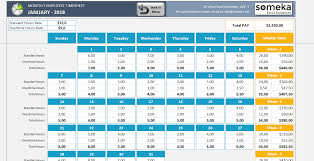 free timesheets templates excel monthly employee timesheet free and printable excel template