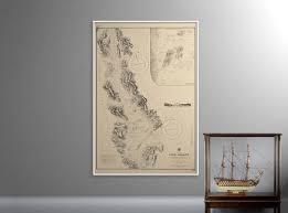 Sea Charts Scotland Loch Lomond Scotland Old Map Of Loch Lomond Print Nautical Maritime Chart Wall Art Chart Of Scottish Loch Sea Print Wall Art