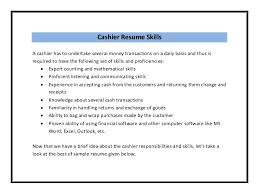 Skills For A Cashier Musiccityspiritsandcocktail Com