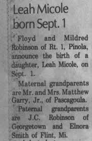 Elnora Smith granddaughter's birth - Newspapers.com