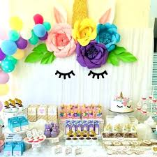 Kids Birthday Decoration Table Decorations For Parties Set Unicorn