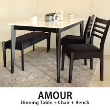 table 2 chairs and bench. toma amour amr dining set (table + 2 chairs benches) stylish table and bench s
