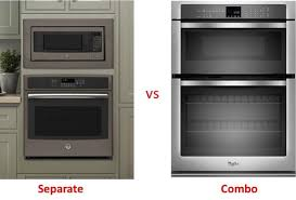 oven microwave combo vs separate