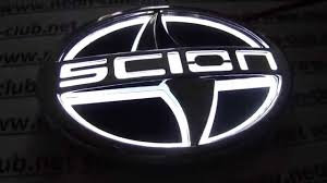 Car Badge 5D emblem light Scion car badge, logo sticker 5D - WHITE ...