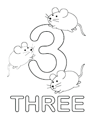 number coloring pages for toddlers kids learn number 3 coloring page bulk color pages number 2
