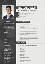 Free Mechanic Resume Resume Engineering Resume Templates Sample