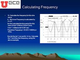 calculating frequency q calculate the frequency for this sine wave a we know