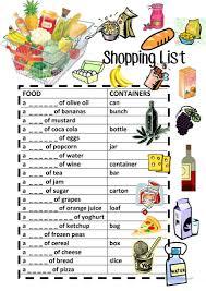 29 Free Esl Shopping List Worksheets